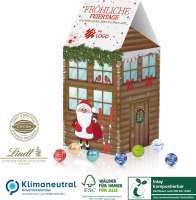 Adventskalender-Haus XL Lindt, Klimaneutral, FSC®, Inlay kompostierbar