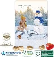 Lindt Wand-Adventskalender Schokoladen-Herzen, Klimaneutral, FSC®, Inlay aus Recycling-Material herg
