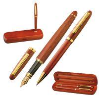 Holz-Schreibset mit Kugelschreiber und Füllfederhalter