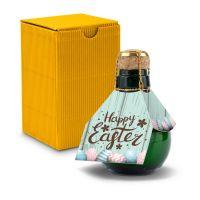 Kleinste Sektflasche der Welt! Happy Easter - Inklusive Geschenkkarton, 125 ml
