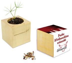 Pflanz-Holz Xmas Maxi mit 2 Seiten gelasert