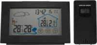 Wetterstation mit Außensensor, Innen- und Außentemperaur, Hygrometer und Funkuhr