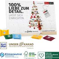 Tisch-Adventskalender Ritter SPORT, Klimaneutral, FSC®, Inlay aus Recycling-Material hergestellt