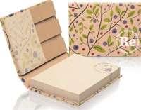 Kombi-Set im Hardcoverumschlag mit Graspapier