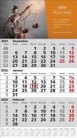 3 Monats-Wandkalender Standard 1 Plus, deutsch