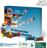 Adventskalender Lindt HELLO mit Santa, Klimaneutral, FSC®, Inlay aus Papierfaser