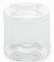 Weihnachtskugel 8 cm einzeln in transparenter Dose mit 4-5fbg. Tampondruck