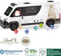3D Adventskalender Lindt Camper, Klimaneutral, FSC®, Inlay aus 100% recyceltem Material