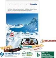 Adventskalender mit TOBLERONE, Klimaneutral, FSC®, Inlay aus Papierfaser