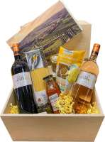 Geschenkset - Präsenteset: Große mediterrane Kiste mit 7 Spezialitäten