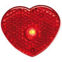 Herzförmiges Ansteckblinklicht rot