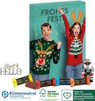 Adventskalender Lindt HELLO mit Santa, Klimaneutral, FSC®, Inlay aus 100% recyceltem Material