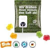 """Fruchtgummi Minitüte 10g, """"Glücks-/Sparschwein"""", kompostierbare Folie"""