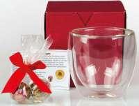 Handgerollte Tee-Kugel im doppelwandigen Glas