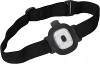 Beanie-Strickmütze mit herausnehmbarem LED-Licht und Stirnband