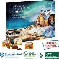 Adventskalender Ferrero Küsschen, Klimaneutral, FSC®, Inlay aus Papierfaser