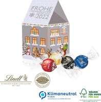 3D Präsent Haus mit Lindt Lindor Pralinés, Klimaneutral, FSC®