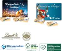 Lindt Super-Mini-Adventskalender XXS, Klimaneutral, FSC®, Inlay aus Recycling-Material hergestellt