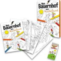 Malbuch Set Bauernhof