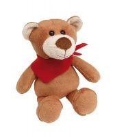 """Plüsch-Teddy """"Tubbs"""" mit rotem Halstuch"""