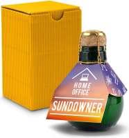 Kleinste Sektflasche der Welt! Home Office Sundowner - Inklusive Geschenkkarton, 125 ml