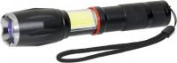 Multifunktions Taschenlampe mit Zoom-Funktion und Trageschlaufe schwarz