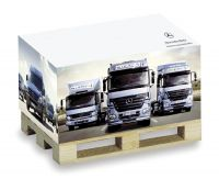 Zettelblock Mini-Holzpalette mit Digitaldruck