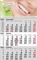3 Monats-Wandkalender Standard 1, deutsch