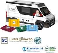 3D Präsent Camper mit Ritter SPORT Schokotäfelchen, Klimaneutral, FSC®