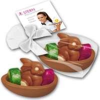 Mini - Osternest mit Schokoladenhasen