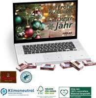 Tisch-Adventskalender Sarotti Business Exklusiv Laptop, Klimaneutral, FSC®, Inlay aus 100% recycelte