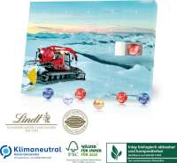 Tisch-Adventskalender Lindt Organic, Klimaneutral, FSC®, Inlay biologisch abbaubar und kompostierbar