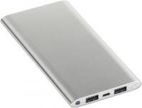 Preiswerte Aluminium Powerbank mit 10.000 mAh, Taschenlampe und Geschenkverpackung
