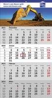 4 Monats-Wandkalender Standard 4, deusch