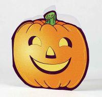 Klappkärtchen Halloween, Kürbis, 1-4 c Digitaldruck inklusive orange