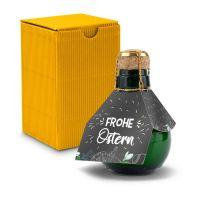 Kleinste Sektflasche der Welt! Frohe Ostern - Inklusive Geschenkkarton, 125 ml