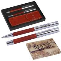 Mark Twain Schreibset mit Kugelschreiber und Füllfederhalter