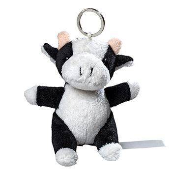 Plüsch Schlüsselanhänger Kuh - Kuscheln für unterwegs!