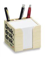 Holz-Zettelbox natur Köcher
