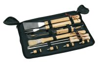 """Barbecue-Set-Tasche Holzg.,10tlg """"Fried"""""""