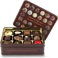 Geschenkartikel - Präsentartikel: Schokoladenauswahl - Pralinendose mit 125 g