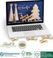 Tisch-Adventskalender Lindt Select Edition Laptop, Klimaneutral, FSC®, Inlay aus 100% recyceltem Mat