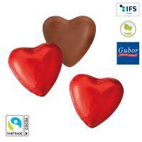 Schokoladenherz mit DANKE-Standardflowpack