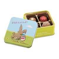 Präsentset Frohe Ostern – Hab dich lieb – Pralinen 50 g