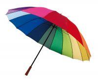 "Golfschirm, 16 Segmente, ""Rainbow Sky"""