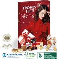 Adventskalender Lindt Premium-Selection, Klimaneutral, FSC®, Inlay aus Papierfaser