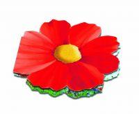 Klappkärtchen Blüte, bunte Blumenmischung, 1-4 c Digitaldruck inklusive