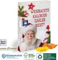 Karton-Adventskalender mit Ritter SPORT Schokowürfel, Klimaneutral, FSC®, Innen- und Außenteil zu 10