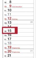 Tagesklammer für Streifenkalender