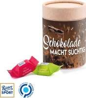 Papierdose Eco Maxi Ritter Sport Würfel Schokolade macht süchtig